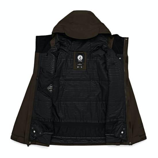 Volcom Ten Insulated Gore-tex - מעיל סקי עם פתחי אוורור בבית שחי